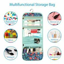 Portable Toiletry Cosmetic Travel Bag Water Resistant Hanging Makeup Pouch