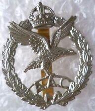 Badge- Army Air Corps Cap badge -KC , AAC Badge KC (White Metal)