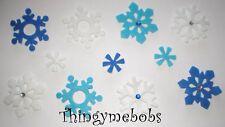 10 SNOWFLAKE GEM/FELT STICKERS - CHILDREN'S CRAFTS/CARD MAKING - CHRISTMAS