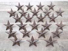 "25 Rustic Star Nails Craft Pins 3 1/2"" Cast Iron Decorative Wall Decor Texas"