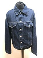 H297 MENS ARMANI JEANS COLLARED BLUE BUTTON FRONT DENIM JACKET UK L EU 52 FITTED