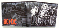 AC DC Rock Band Bifold Wallet purse id window 2 card slot zip coin 3 Styles