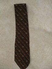 Equestrian Mens Tie 100% Silk Made in Italy Horse & Rider Brown