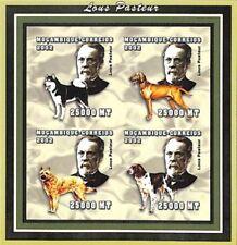 MOZAMBIQUE-2002-LOUIS PASTEUR-chiens-1 bloc neuf NON dentelé