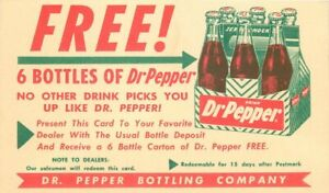 Advertising Soda 6 Bottles Doctor Pepper Postcard undivided Artist 21-2031
