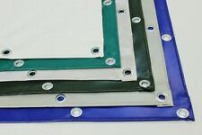 LKW Abdeckplane PVC Folie XXLm x XXLm 500 g/m² mit Saum und Ösen 50cm