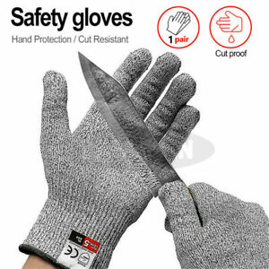 1 Pair Metal Mesh Anti-cut Safety Gloves Stainless Steel Wire Cut Resistant UK