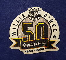 ZTX WILLIE O'REE OFFICIAL 2008 50TH ANNIVERSARY NHL PATCH 1ST BLACK IN NHL NICE!