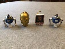 M & M'S STAR WARS MPIRE ORNAMENTS R2-D2 + C-3PO - Lot of 4