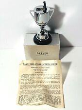 Vintage Parker of London Chrome TROPHY Table Lighter w/ Box & Instructions 1949