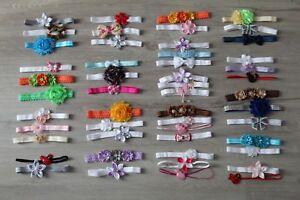 !!! SALE !!! Baby Mädchen Stinbänder SET Kopfband Haarband Stirnband Fest