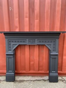 Antique Victorian Cast iron fire Surround   🚚DELIVERY FREE OR £35 Most Uk