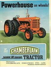 Powerhouse on Wheels Chamberlain Super 70 Diesel Tractor brochure reprint