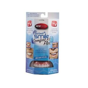 INSTANT SMILE COMFORT FIT FLEX BRIGHT WHITE ULTRA-THIN COSMETIC VENEER TEETH