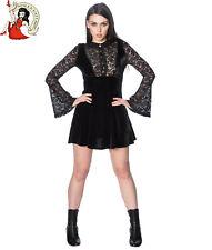 BANNED POISON VELVET mini DRESS BLACK LACE goth ALTERNATIVE