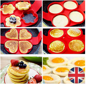 Non Stick Flipping Pancake Maker Silicone Mould Food Egg Omelette Ring Breakfast