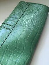 Clutch BAG Ann Taylor LOFT Green Embossed  SMALL