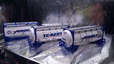 * Herpa 076500-004  Set of ThreeTank Containers TC-RENT / ANHALT 1:87 Scale