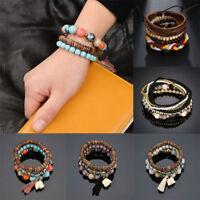Handmade WOMen's MAN Mini beads Polyester Rope Wristband Bracelet Jewelry