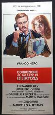 LOCANDINA CINEMA - CORRUZIONE AL PALAZZO DI GIUSTIZIA - F. NERO -1975-DRAMMATICO