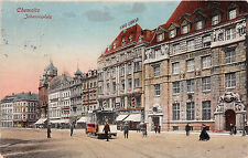 Chemnitz Sachsen Johannisplatz Cafe Corso Strassenbahn 1919