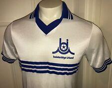Vtg 80s BAINBRIDGE ISLAND Seattle Washington Mens MEDIUM Soccer Shirt Jersey M