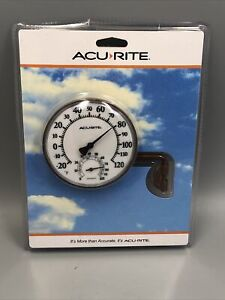 """Brand New AcuRite Swivel Thermometer With Hygrometer 3.5"""" Easy Read / Mount"""