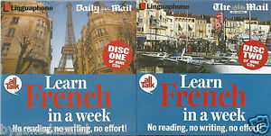 LEARN FRENCH IN A WEEK(DISC ONE & TWO )NEWSPAPER PROMO(FREE UK POST)