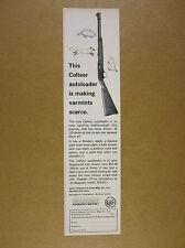 1963 Colt COLTEER .22 22 Autoloader Rifle vintage print Ad