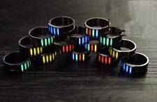 EDC TC4 Titanium Alloy Self-luminous Tritium Lamp Tube Finger Ring Night Ring