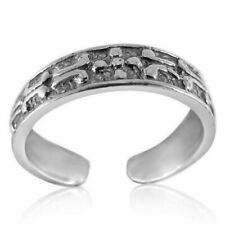 925 Adjustable Best Jewelry 1.3 grams Pattern Toe Ring Solid Sterling Silver