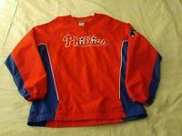 MLB Philadelphia Phillies Men's Size Large Windbreaker Baseball Jacket Red/Blue