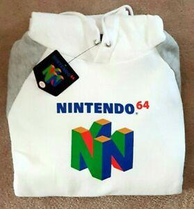 Nintendo 64 Official new white Hoodie men women Mario, Zelda, collectable