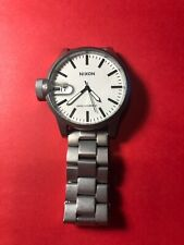 Nixon Chronicle Watch Stainless Steel Case / Bracelet White Face