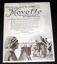 1919 OLD MAGAZINE PRINT AD, MOVETTE MOTION PICTURE CAMERA, RE-LIVE ENJOYMENT!