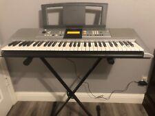 Yamaha PSR-E323 Keyboard, Silver, 61 Keys, Good Condition and PROLINE Stand