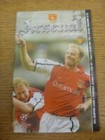 24/10/2001 Arsenal v Real Mallorca [Champions League] . Any faults are noted in