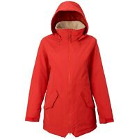 2018 NWT WOMENS BURTON PROWESS SNOW JACKET $300 fiery red sueded classic fit