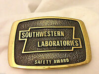 Southwestern Labs Safety Award Solid Brass Vintage Belt Buckle  Free shipping!