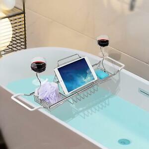 iPEGTOP Stainless Steel Bathtub Caddy Tray - Over Bath Tub Racks Shower