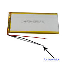 3.7V 2600 mAh 3 wires thermistor Polymer Li Battery For GPS Tablet PC  3552130