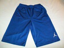 Michael Jordan Jumpman Solid Blue Basketball Athletic Fitness Shorts - Yth Large