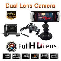 "2.7""Full HD 1080P Car Dual Lens Dash Cam Camera Rear Video Recorder DVR G-sensor"