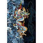 Ed Hardy Blue Dragon - Life Live Luck 36x24 Tattoo Art Print Poster Skull Roses