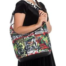Green B-Movie Slouch Bag Large Neon Anime Black BOHO Handbag Hellbunny