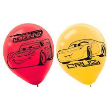 CARS 3 LATEX BALLOONS (6) ~ Birthday Party Supplies Helium Decorations Disney