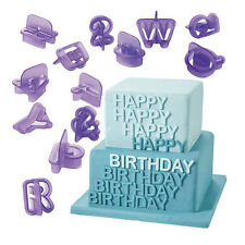 40pc Alphabet Number Letter Fondant Cake Decorating Bake Icing Cutter Mould Set