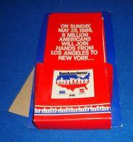 Hands Across America Line Application Brochure Lot of 10 & Holder Rare 1986