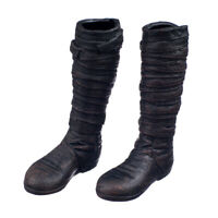 """Pair of Black 1/6 Scale Long Fashionable Boots Shoes f/ 12"""" Male Figure Body"""