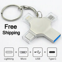 4 in 1 Pen Drive Type c Otg Usb Flash Drive 3.0 For Iphone ipad Android